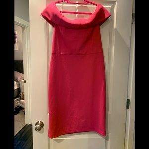 Calvin Klein Off The Shoulder Pink Dress